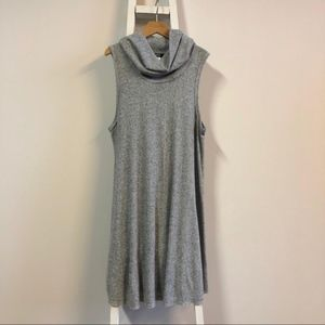 BDG Heather Gray Sleeveless Cowl Neck Dress